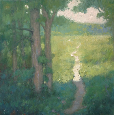Marsh Path painting on panel by Steve Allrich #landscape #painting