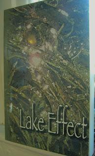 Underwater design moss green for literary journal cover