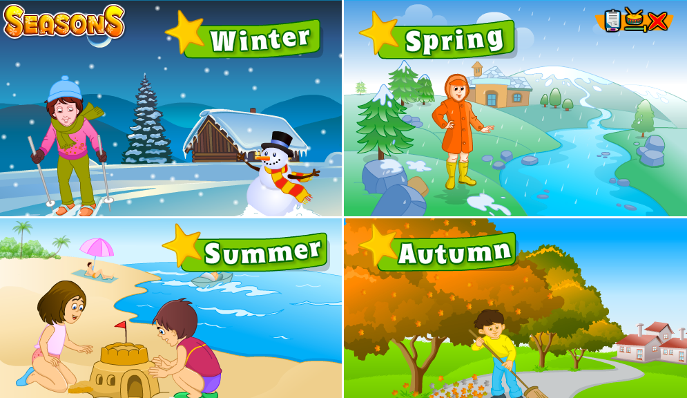 http://www.turtlediary.com/kindergarten-games/science-games/seasons.html