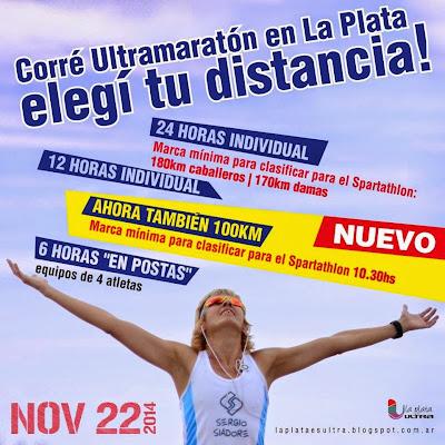 Ultramaratón en La Plata (Arg, 22/nov/2014)