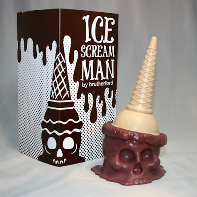 Badass Brown Ice Scream Man Vinyl Figure by Brutherford Industries