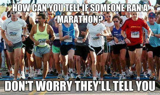 how can you tell if they ran a marathon