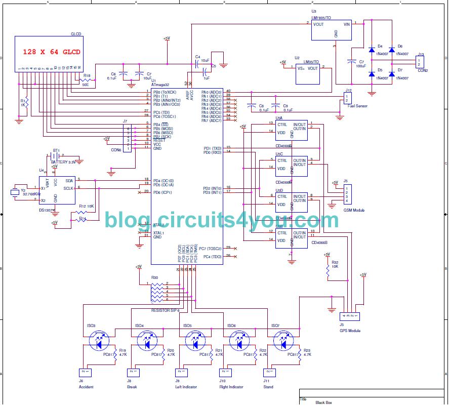 Black Box For Car Project Circuits4you Com