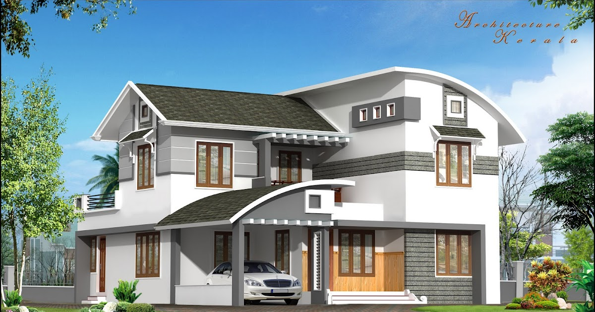 Architecture kerala a beautiful house elevation for Home designs kerala architects