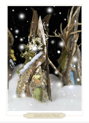 fairy magic winter card