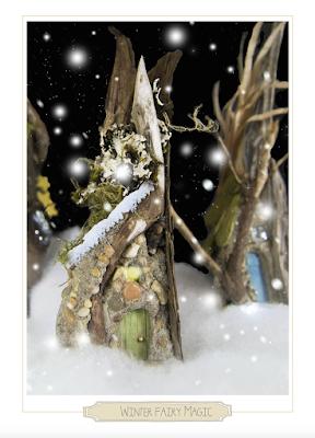 fairy magic winter card