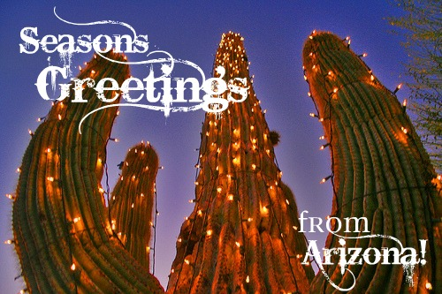 FOCAL POINT STYLING: Seasons Greetings from the Desert!