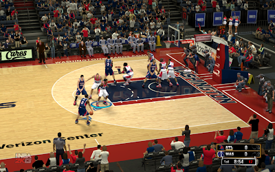 NBA 2K13 Washington Wizards Court Patch