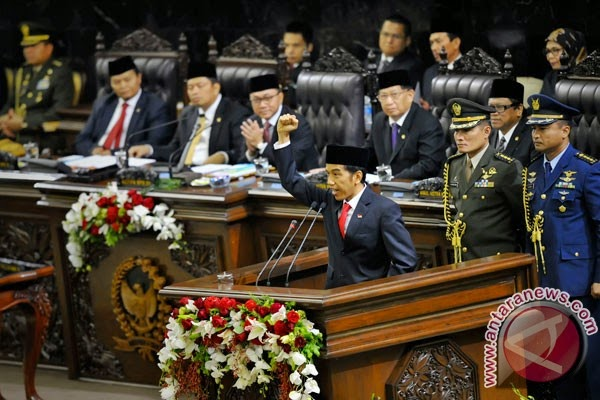 Presiden Joko Widodo Serukan Jalesveva Jayamahe Untuk Maritim Indonesia