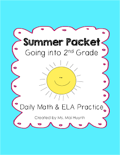 https://www.teacherspayteachers.com/Product/Summer-Packet-Going-into-2nd-Grade-1215211