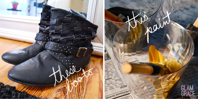 DIY Splatter paint boots