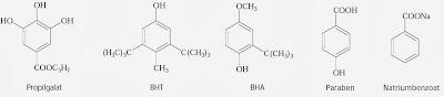 Propilgalat BHT BHA Paraben Natriumbenzoat