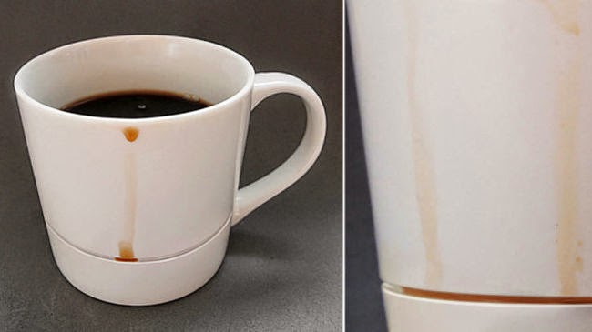 Mug that catches any drips.