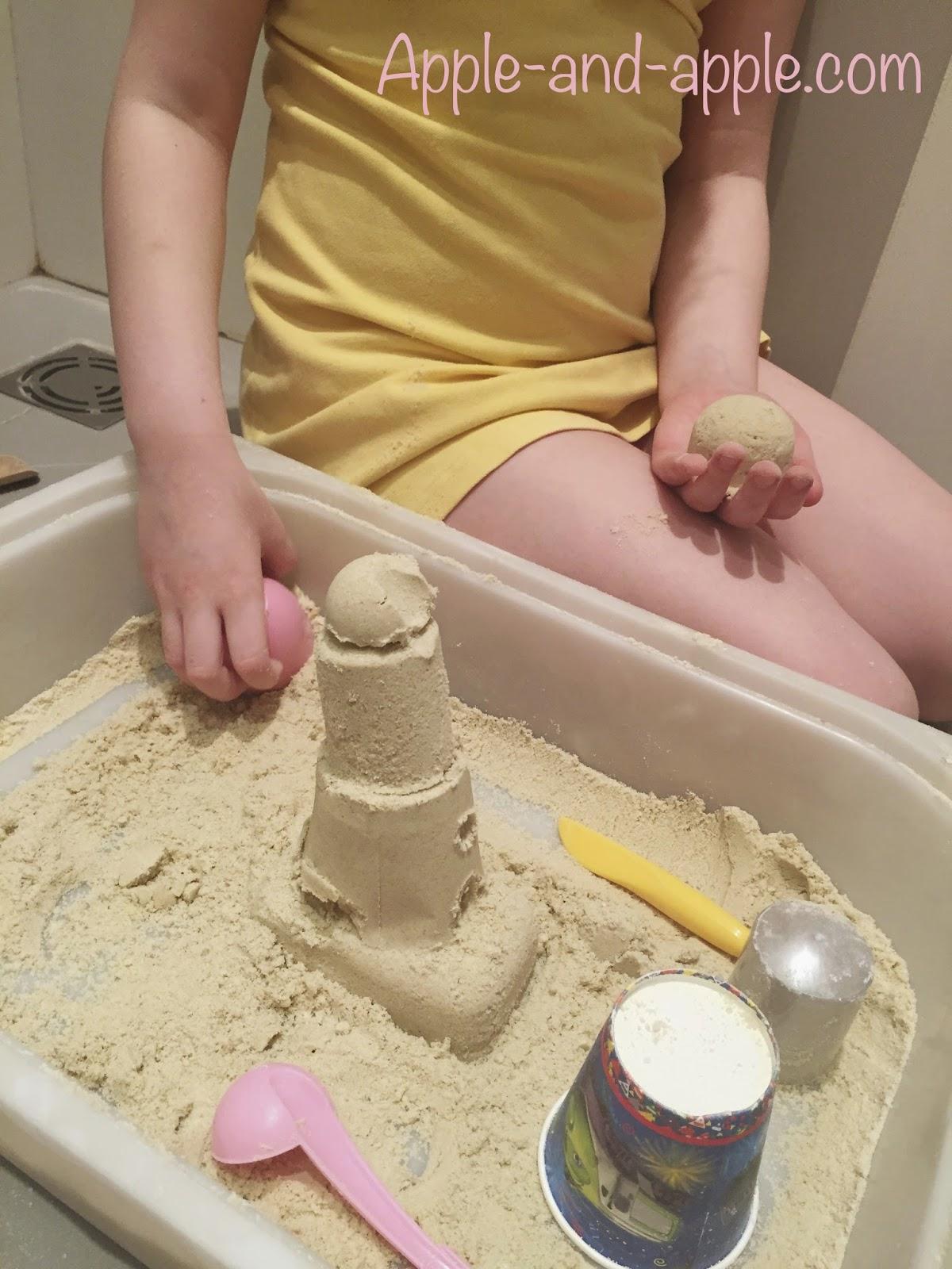 Песок для детей своими руками
