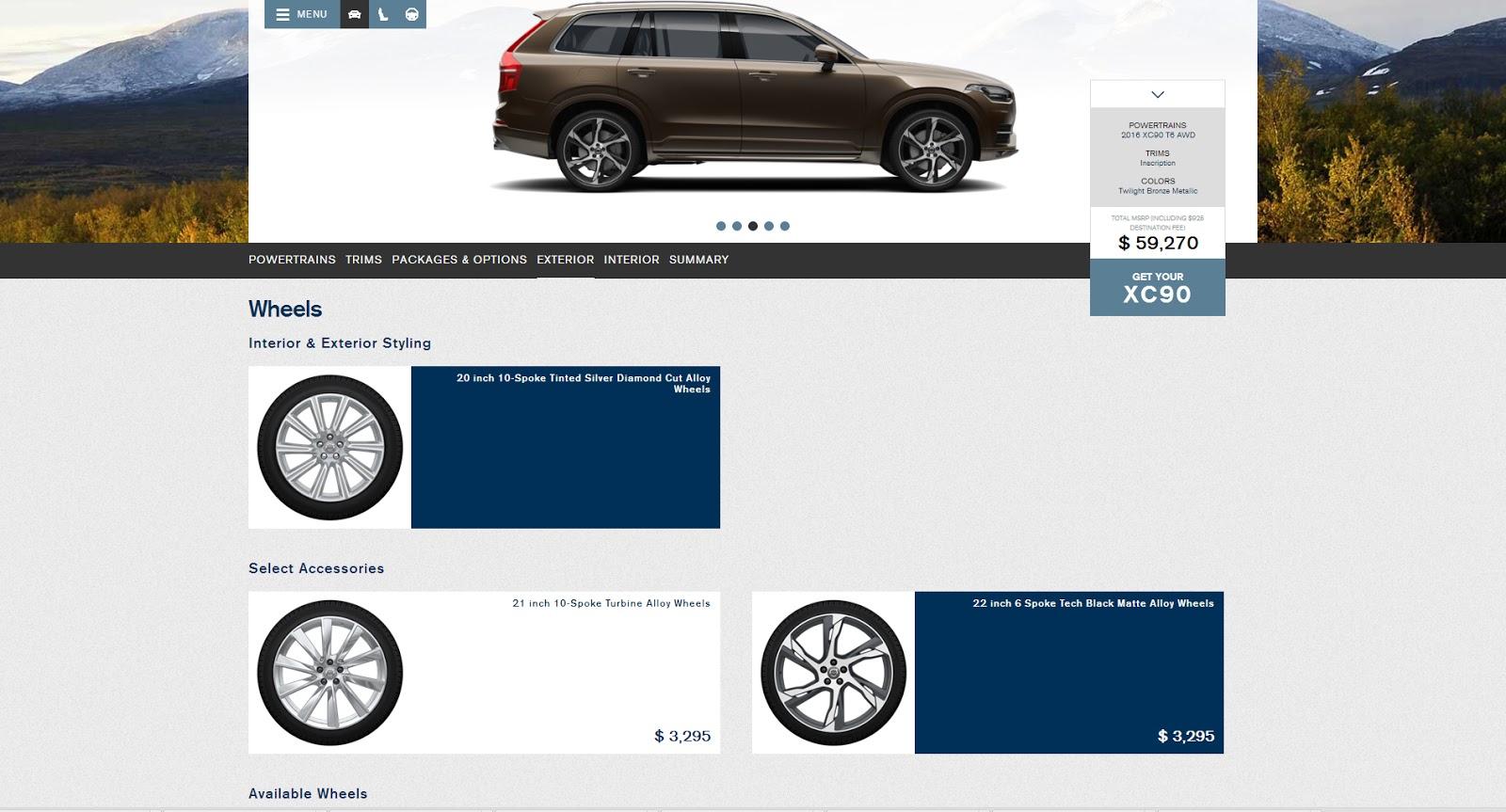 Build the 2016 Volvo XC90 of Your Dreams Via Configurator