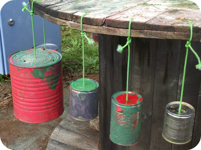 Recycled Tin Musical Spool Table - Mummy Musings and Mayhem
