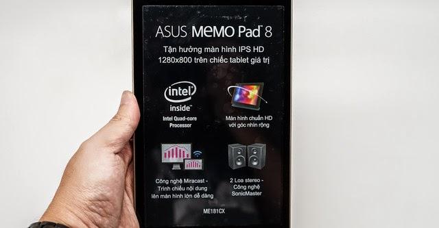 Trải nghiệm Asus MemoPad 8.0 ME181CX