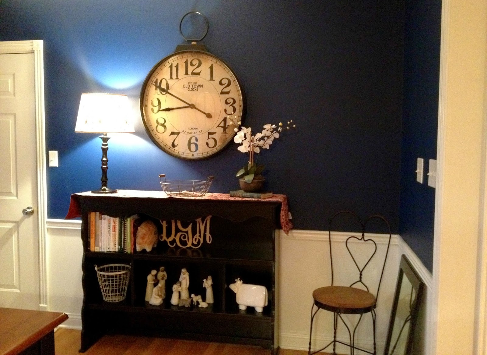 /dresser combo from Avery's room is now a table in the dining room title=