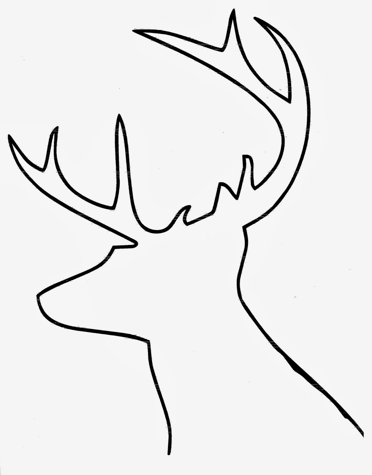 Reindeer Head Silhouette Diy buffalo check reindeer art