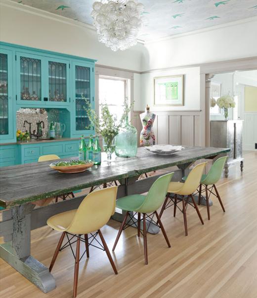 Estilo rustico: mesa rustica de madera para comedor