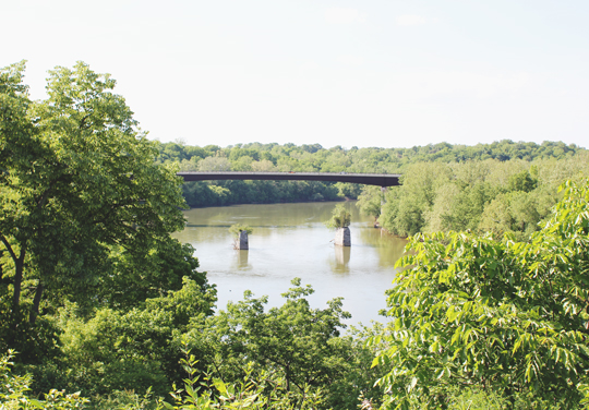 View of Potomac River from The Rumsey Monument in Shepherdstown, West Virginia