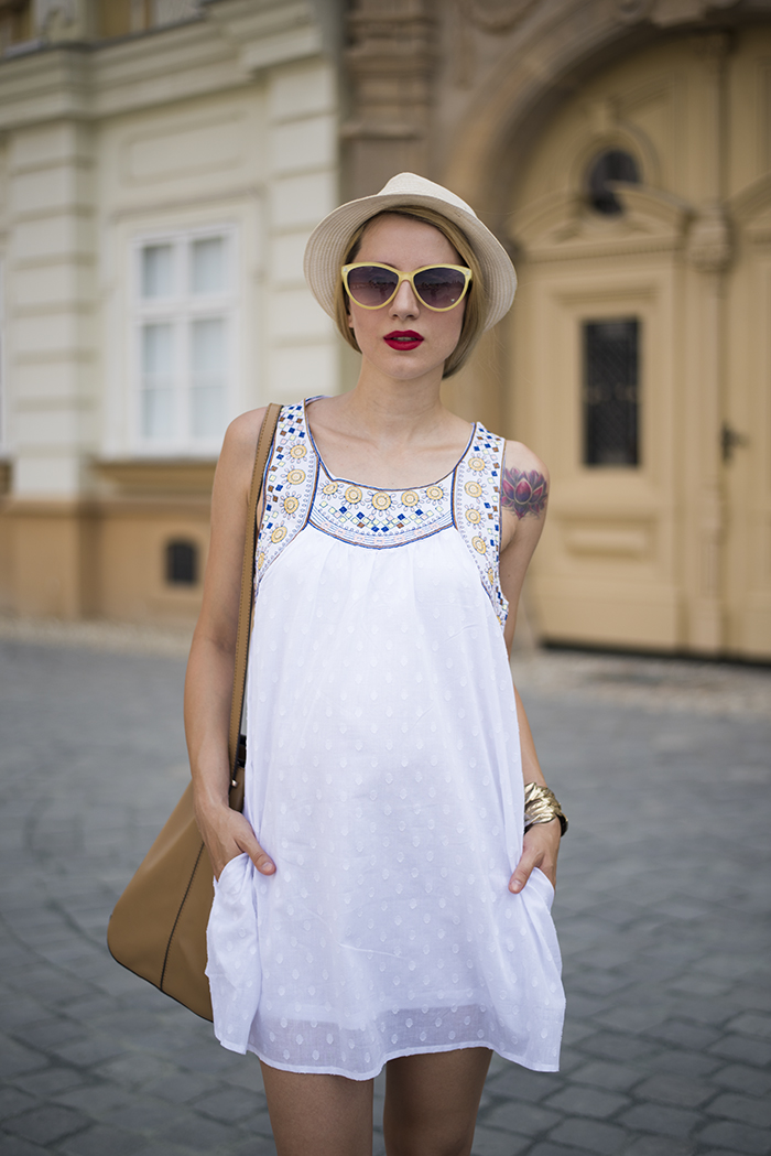 Skinny  Buddha Shein white dress