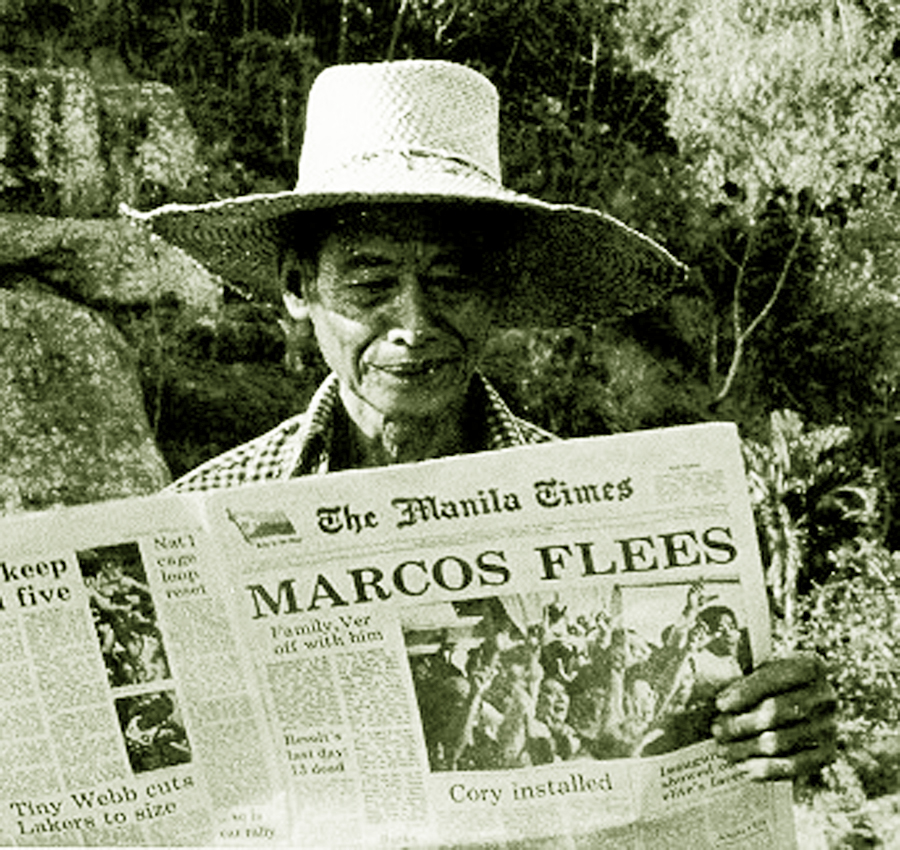 Image result for ferdinand marcos flees the philippines