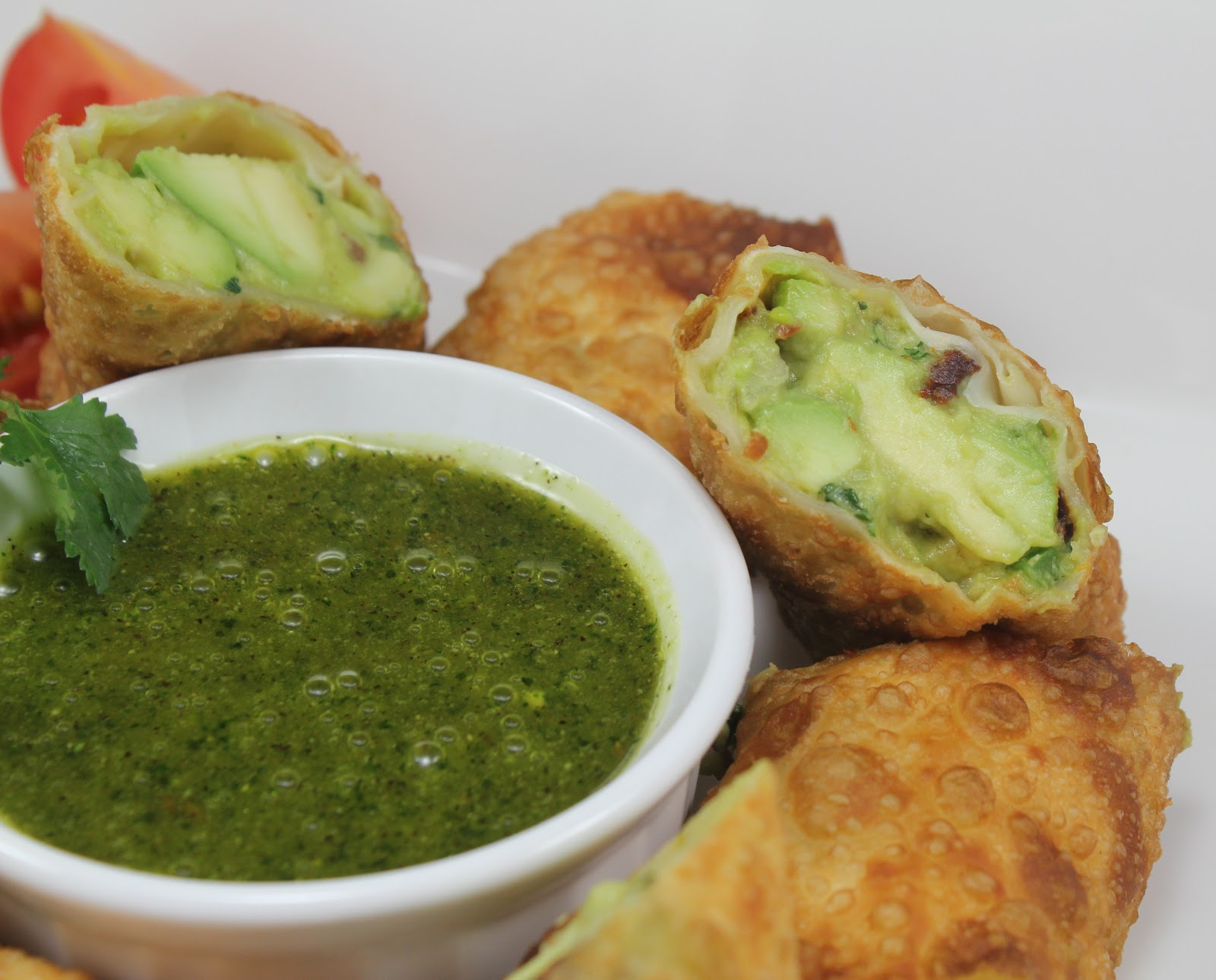 Thyme In Our Kitchen: Avocado Egg Rolls with Cilantro ...