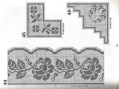 Розы для филейного вязания