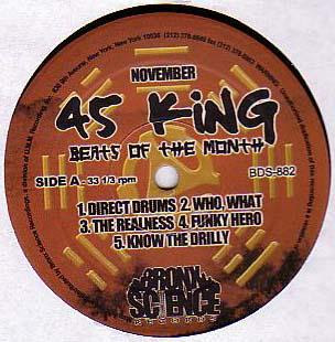 45 King – Beats Of The Month (November) (2000, 192)