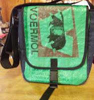 feed sack messenger bag