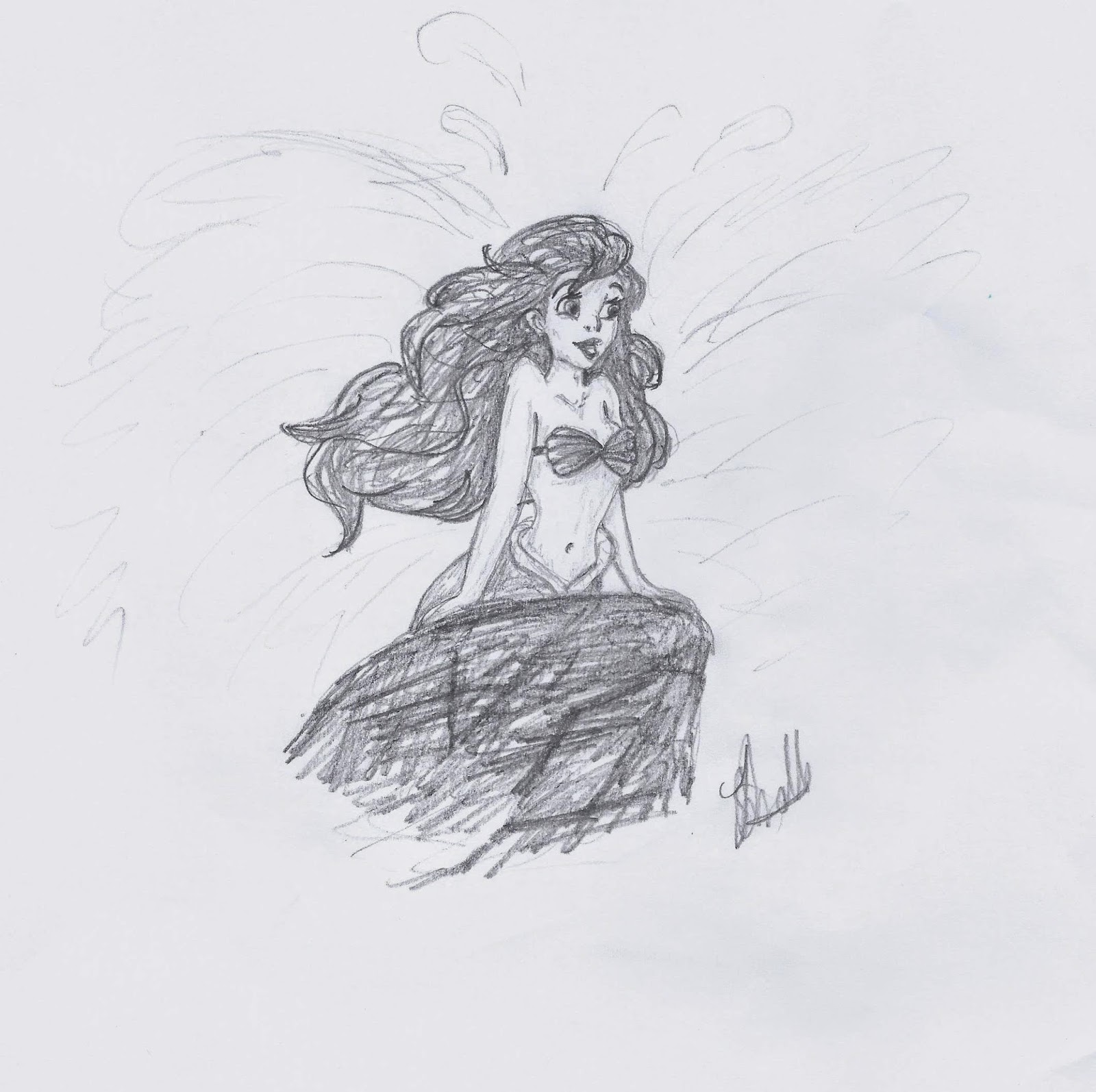 Ariel from The Little Mermaid illustrated by Jo Linsdell