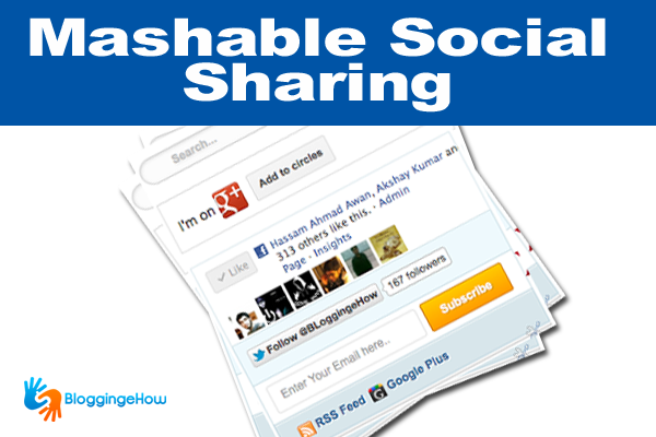 Mashable Social Subscription (Search box + Google+)