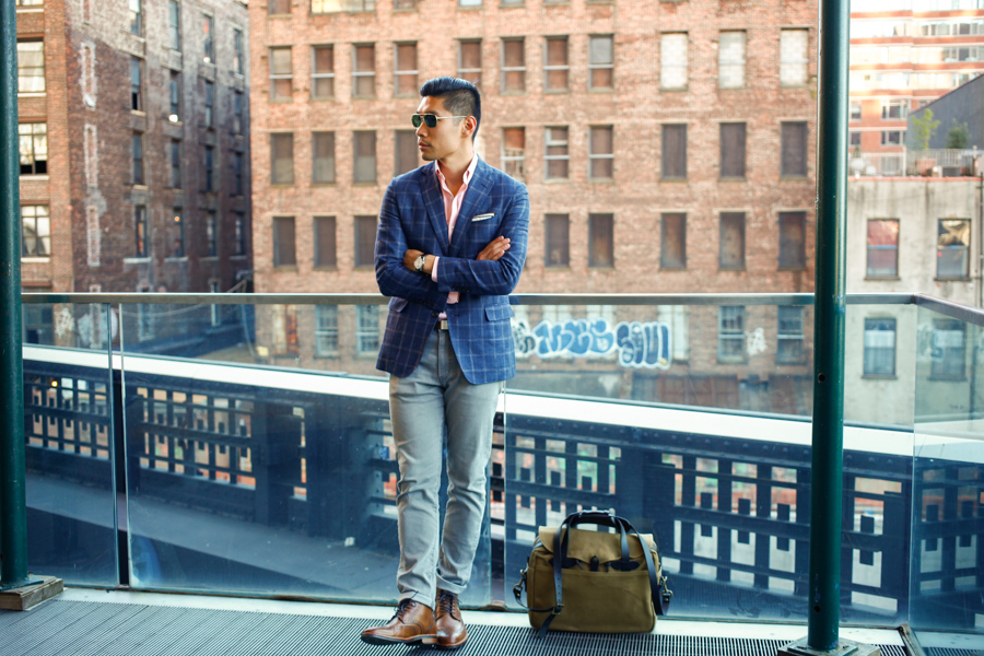 Gordon Rush, Sharp Casual, Menswear, Stiles Dress Boot, The High Line, NYC