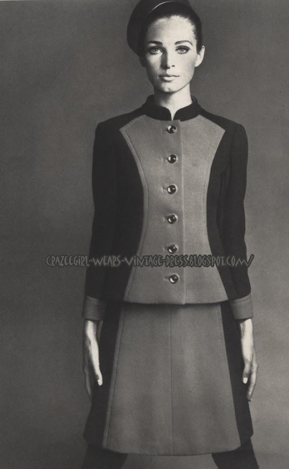 Philippe Venet - suit skirt - 1967 colorblock 1960 60s