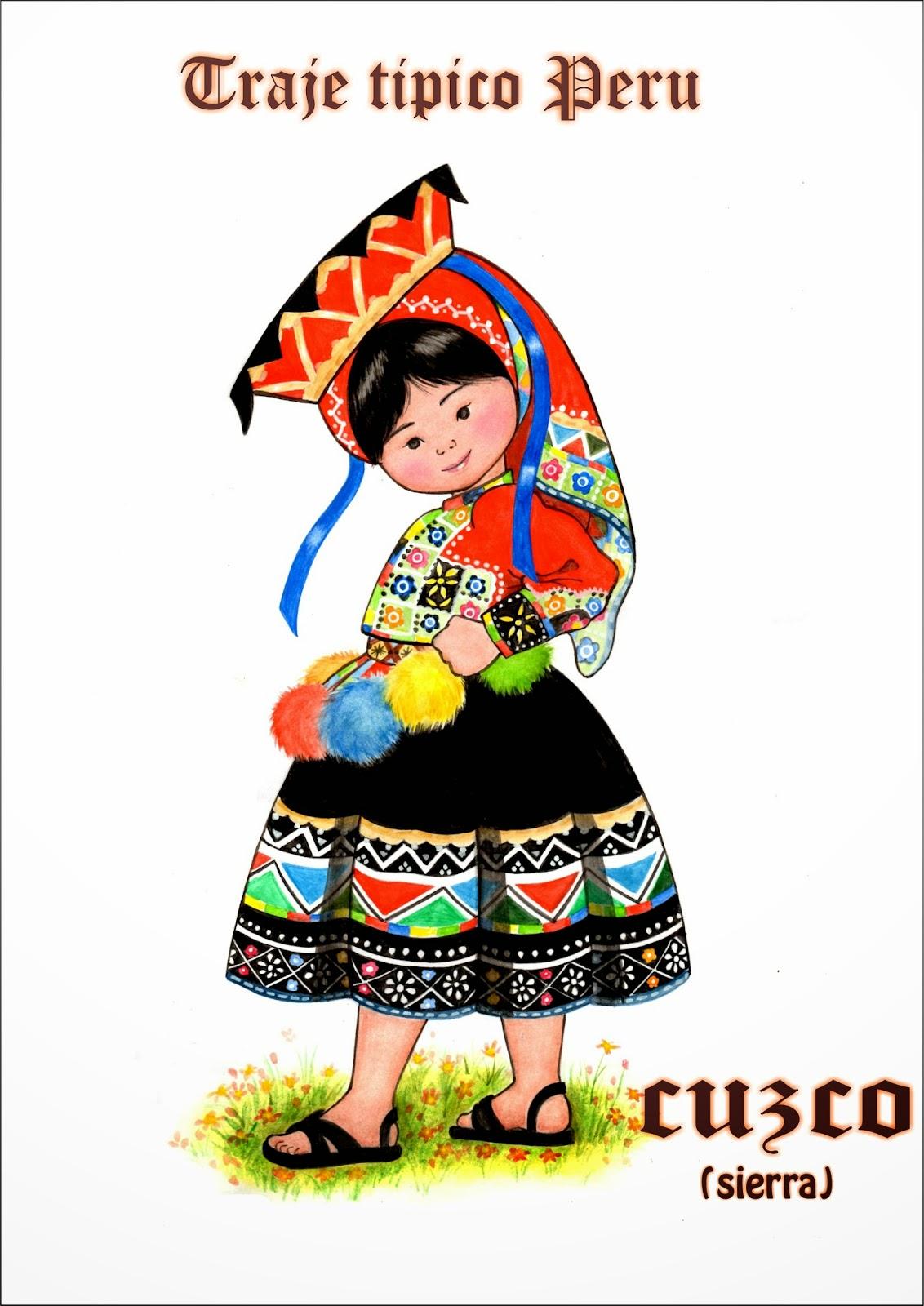 Vestimenta De La Sierra Dibujo
