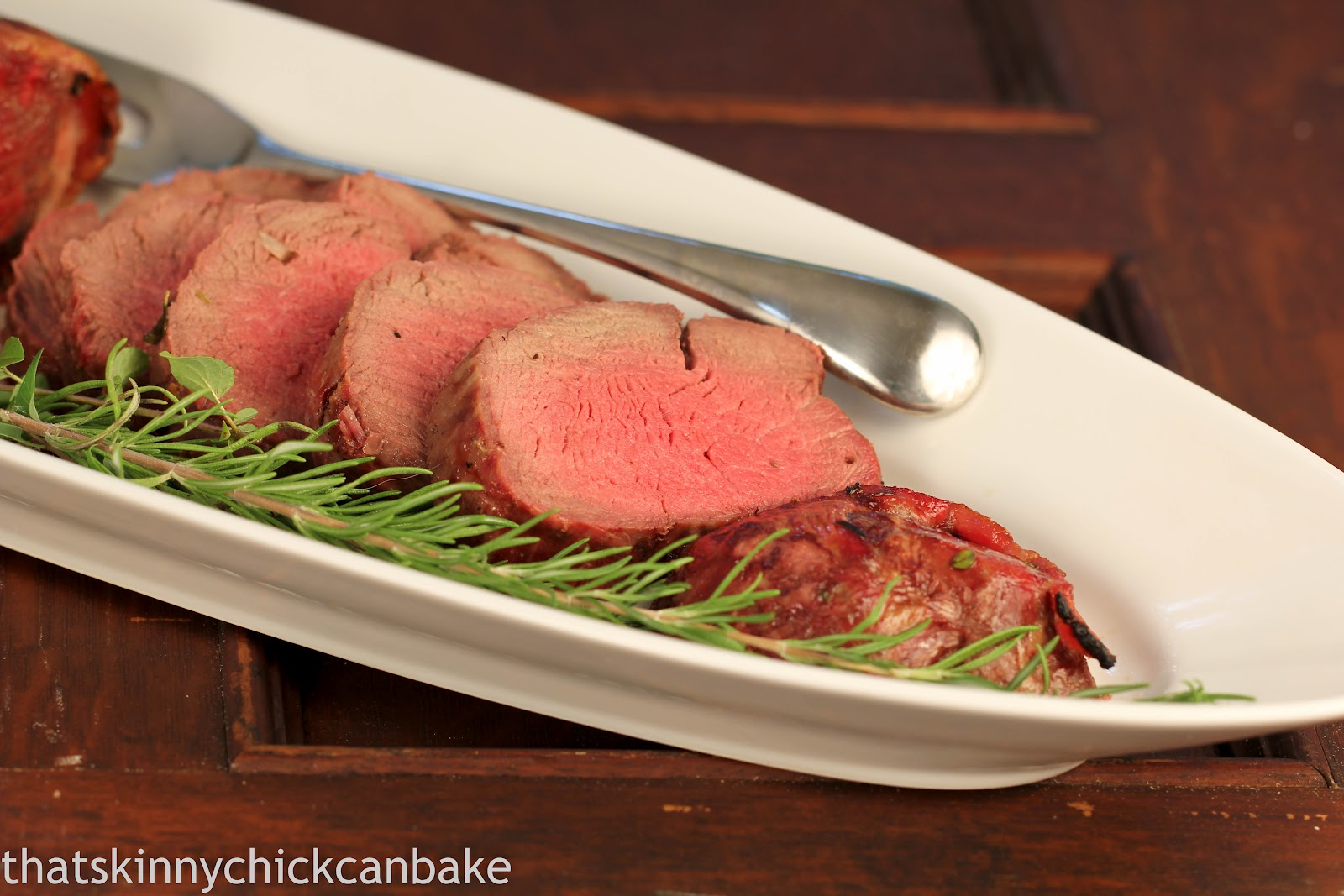 Bacon and Herb Wrapped Beef Tenderloin~ - That Skinny ...