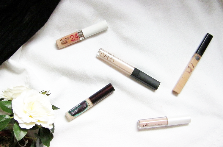 concealers maybelline nars elf review swatch beauty blog