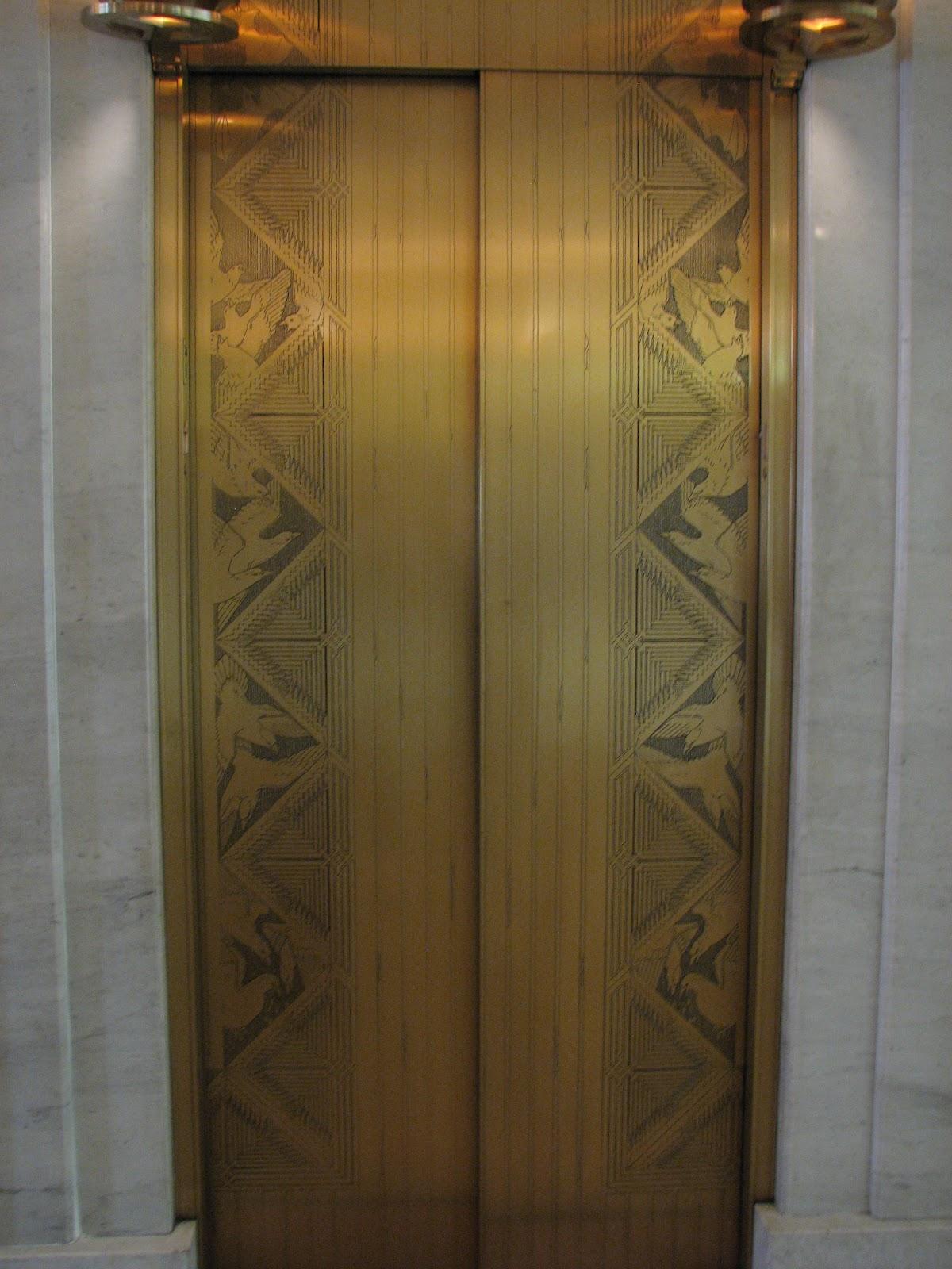Travels With Rarecat Chicago Art Deco Elevator Doors