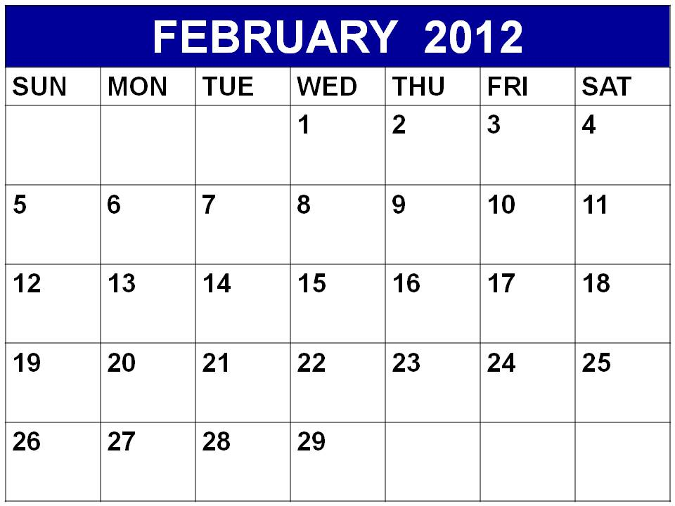 2012 calendar printable. Printable calendar for