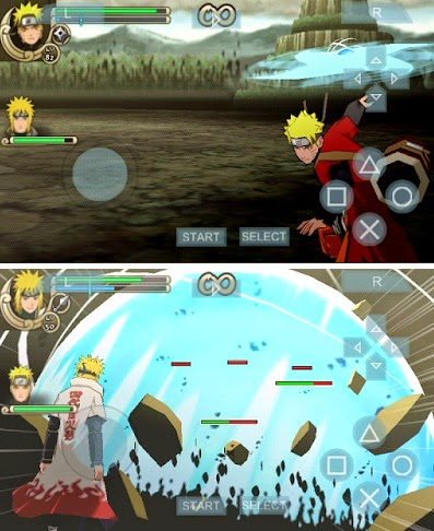 Game PPSSPP Android Naruto Shippuden Ultimate Ninja Impact CSO