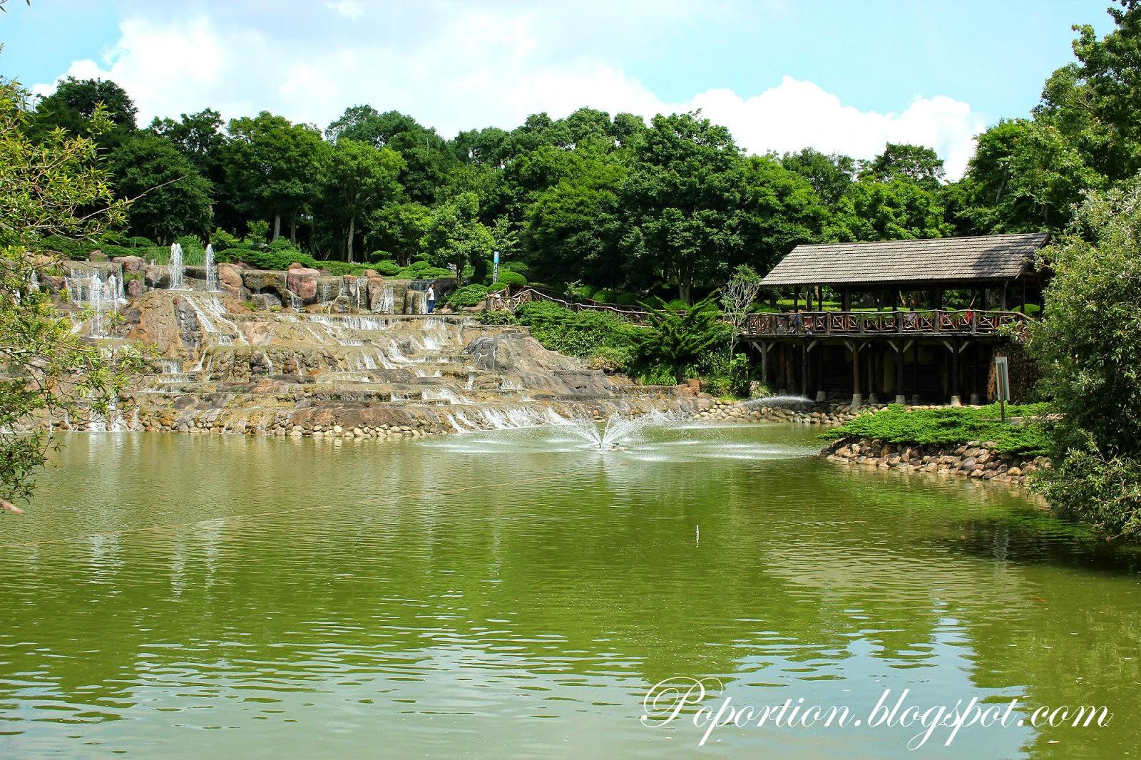 manmade waterfall
