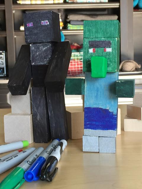 Minecraft Guys from Wooden Blocks