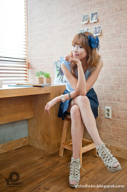 7 Lee Eun Hye in Blue-very cute asian girl-girlcute4u.blogspot.com
