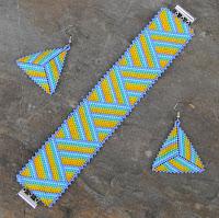 купить яркие украшения из бисера браслет сережки украина