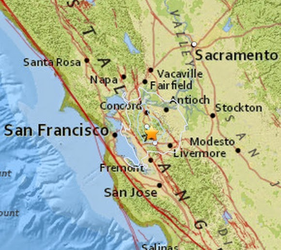 Magnitude 3.6 Earthquake of San Ramon, California 2015-04-02