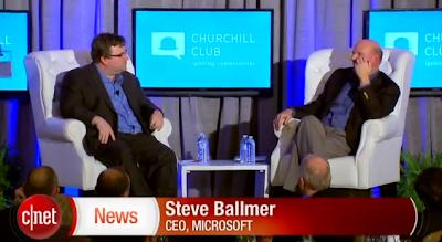 Cnettv Ballmer Windows Capture Smartphone Middle Linkedin Founder Reid Hoffman Talks