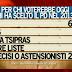 Sondaggio Ipsos per Ballarò: i flussi di voti rispetto alle elezioni 2013