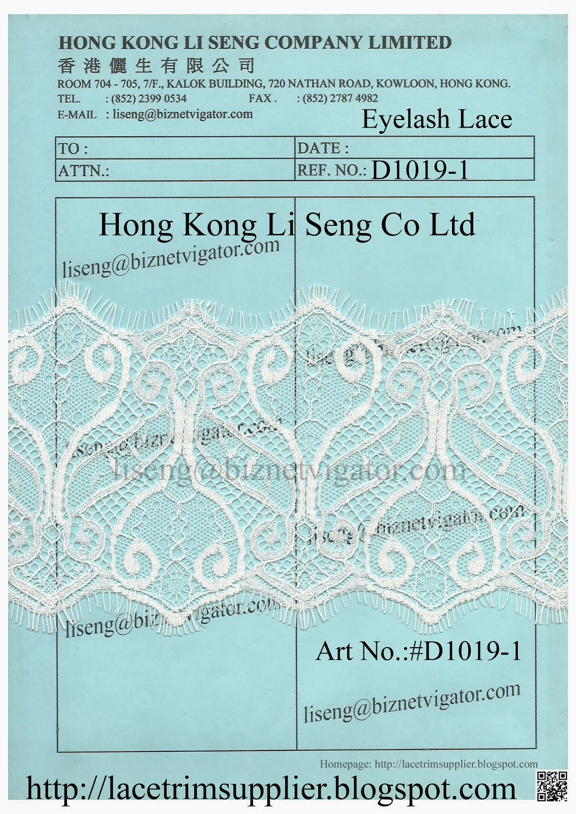 Eyelash Lace Trims Suppliers - Hong Kong Li Seng Co Ltd