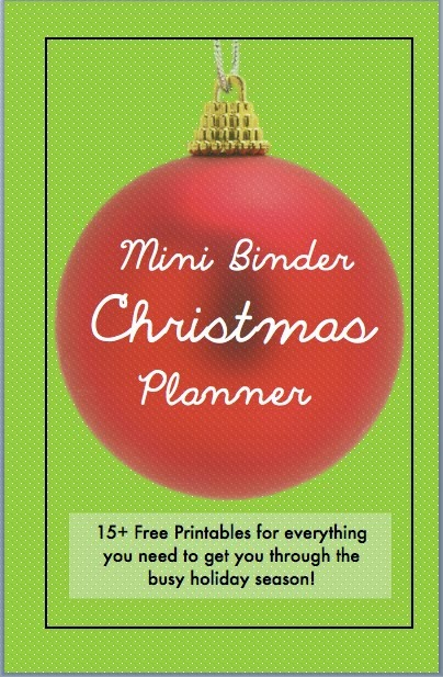or make a cute christmas binder just for this i have all the free printables you could need from meal planning to party games and more